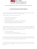 Masters Research/thesis Proposal