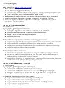 Sat Essay Template