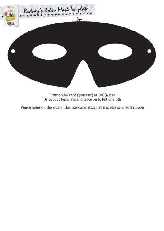 Rodney's Robin Mask Template