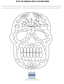Dia De Los Muertos (day Of The Dead) Mask Template