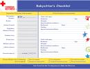 Babysitter's Checklist