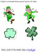 Dancing Leprechaun Popsicle Sticker Template