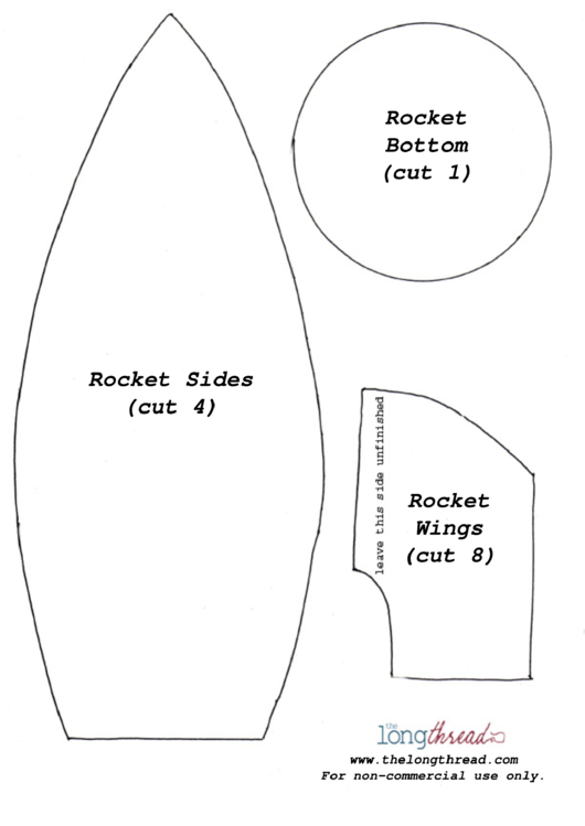 CutOut Rocket Template printable