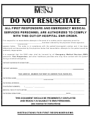 Out-of-hospital Do Not Resuscitate Form