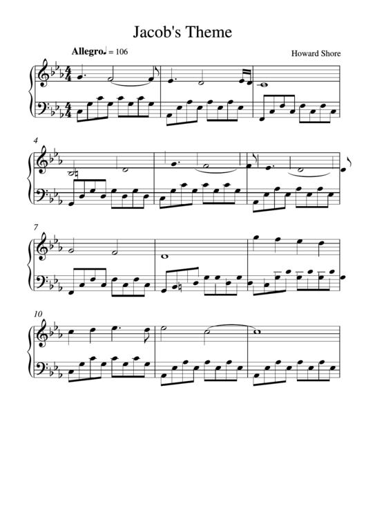 Jacob's Theme - By Howard Shore