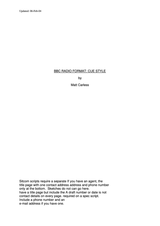 Top 5 Radio Script Templates free to download in PDF format