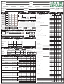 Call Of Cthulhu Character Record Sheet