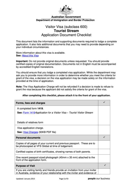 Top australian visa application form templates free to for Documents checklist passport
