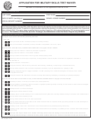 Form Cdl-3a - Application For Military Skills Test Waiver - Texas Department Of Public Safety