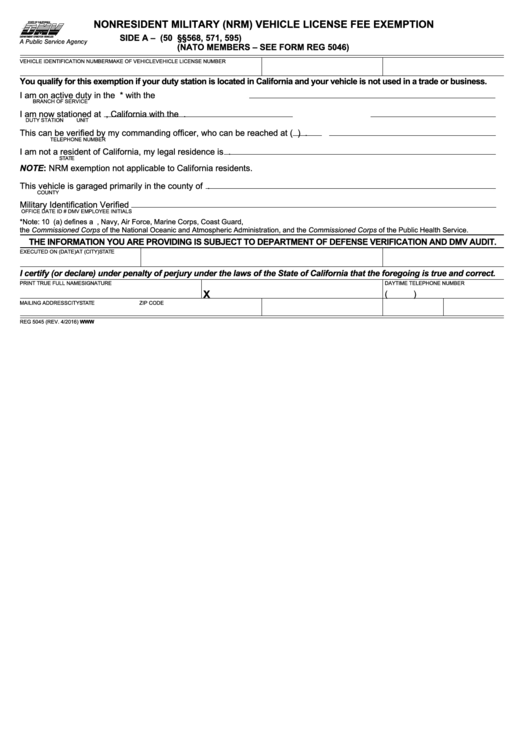 Top Military Drivers License Form Templates free to download in ...