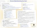 The Social Media Marketing Cheat Sheet
