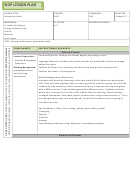 Sample Siop Lesson Plan - Sorting By Colors