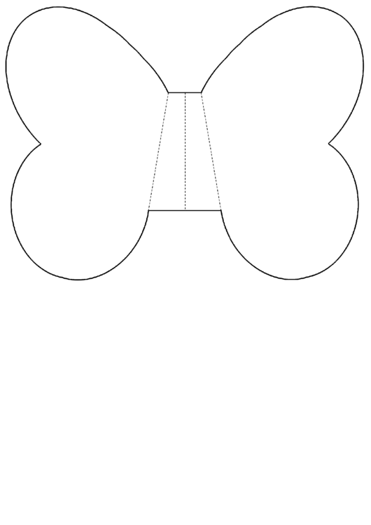 Foldable Butterfly Wing Template