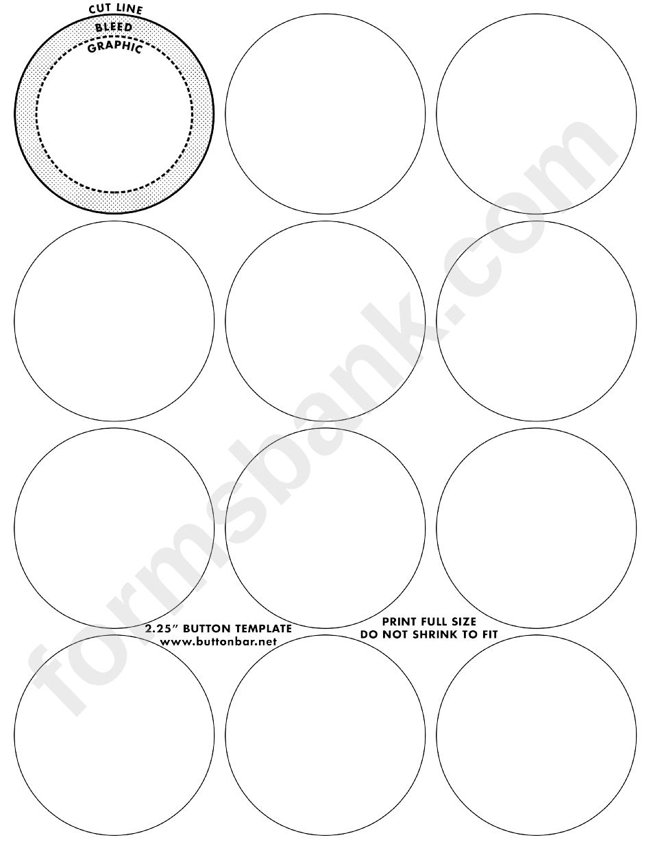 inch small button templates printable pdf download. Black Bedroom Furniture Sets. Home Design Ideas
