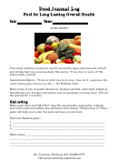 Food Journal Log - Fuel For Long Lasting Overall Health