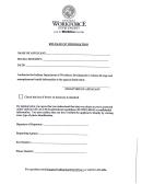 Release Of Information - Indiana Department Of Workforce Development