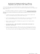 Judgment And Decree Of Divorce (Stipulation And Agreement With Children Printable pdf