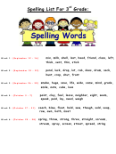 Spelling List For 3rd Grade