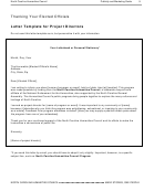 Letter Template For Project Directors And Project Participants