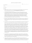 Artists' Management Contract Template