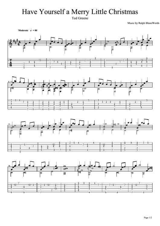 Have Yourself A Merry Little Christmas Sheet Music Pdf.Have Yourself A Merry Little Christmas Ted Greene Sheet