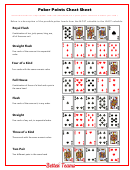 Poker Points Cheat Sheet Template
