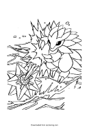 Pokemon Coloring Sheet