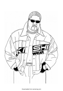 Wwe Coloring Page Template