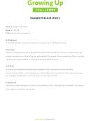 Sample H.e.a.r. Entry Form