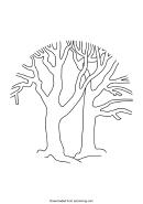 Bare Tree Template - Round