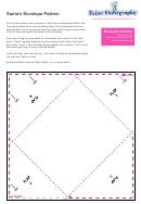 Santa's Felt Envelope Pattern Template