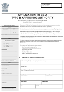 Application Form To Be Type B Certifier
