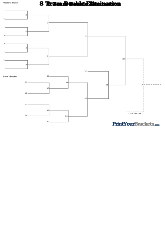 Top 8 team bracket templates free to download in pdf format for 8 team bracket template