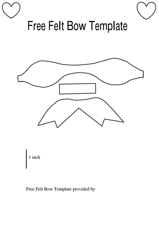 felt bow template printable pdf download