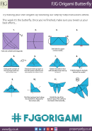 Butterfly Origami Templates