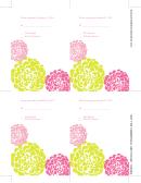 Chrysanthemum Wedding Rsvp Template