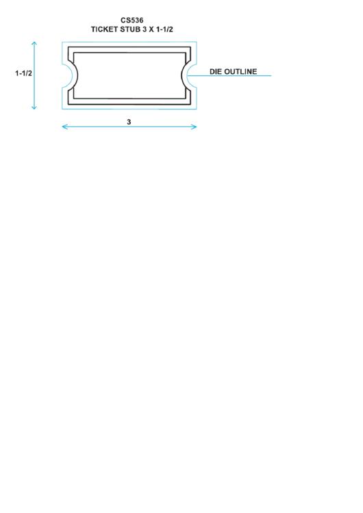 Ticket Stub Magnet Printable pdf