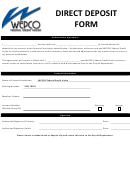 Direct Deposit Form - Wepco Federal Credit Union
