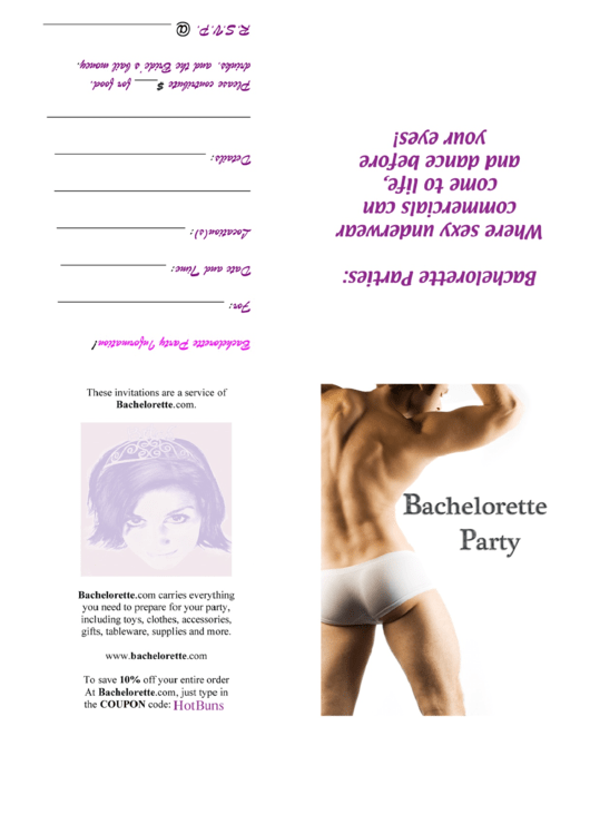 Bachelorette Invitation Template Printable pdf