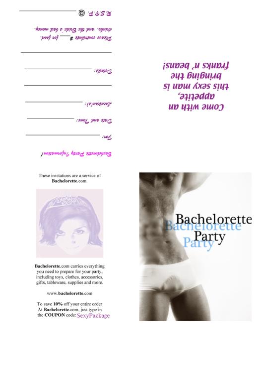 Bachelorette Invitation Template Printable pdf