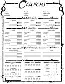 Cluishi Character Sheet