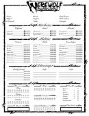 Werewolf The Apocalypse Character Sheet