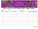 Volunteer Sign-up Sheet: International Day Of Happiness