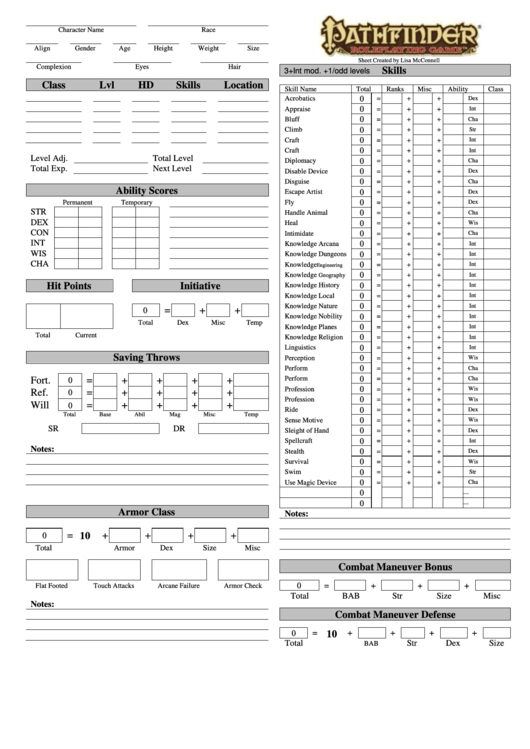 photo about Printable Character Sheet referred to as Pathfinder Playtest Identity Sheet Fillable