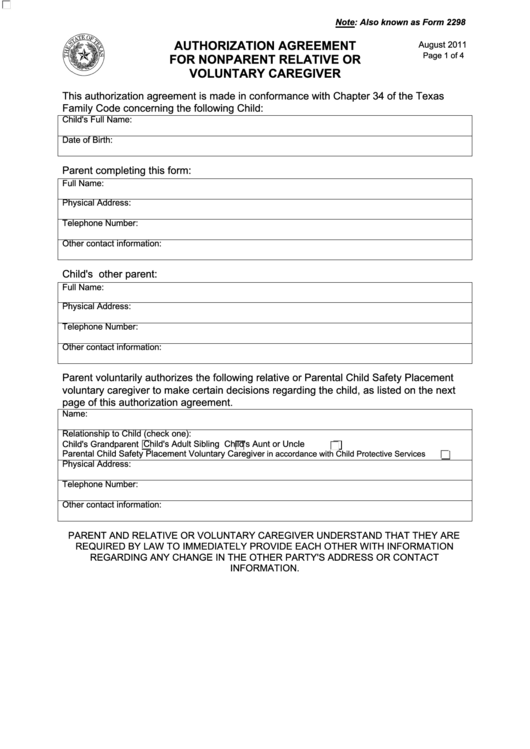 Top 6 Temporary Custody Form Templates Free To Download In