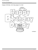 Happy Birthday Coloring Page For Dad