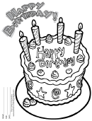 Happy Birthday Coloring Sheet