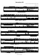 Invention 08 - Johann Sebastian Bach