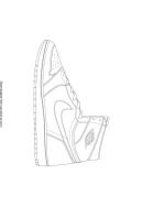 Shoe Coloring Sheet
