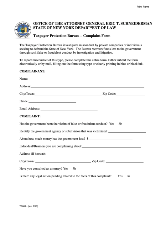 Top 7 Nys Attorney General Complaint Form Templates free to ...
